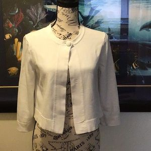 Brooks Brothers White Cropped Cardigan Size Small